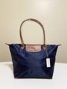 Authentic Longchamp Le Pliage Tote Bag Size LARGE NAVY🎄Christmas Gift🎁