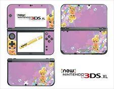 SKIN STICKER AUTOCOLLANT - NINTENDO NEW 3DS XL - REF 69 FEE CLOCHETTE