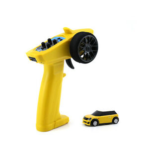YELLOW Turbo Racing 1/76 Fully Proportional micro remote control rc car RTR toy