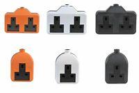 Durable Extension Lead Plug Socket 1 2 Gang 13 Amp Multi Purpose 13A Plastic