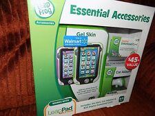 Leap Frog Accessories, Car Adapter, $20 Download Card, Gel Skin, New~In~Box!