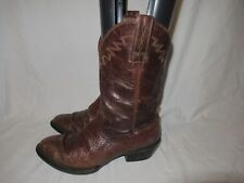 ARIAT MENS WESTERN brown LEATHER western cowboy BOOTS SIZE 7.5D STYLE 34698