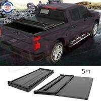 5 FT Soft Bed Tri-Fold Tonneau Cover For 2019-2020 Ford Ranger Trucks Short Bed