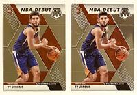 2019-20 Mosaic TY JEROME Rookie Lot (x2), NBA Debut RC, Suns, OKC, Virginia