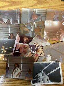 24 Vintage OG Wrestling Photos SOME AUTOGRAPHED Capt. Lou Moondog wwf wwe