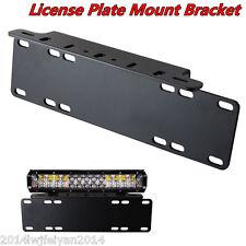 Heavy Duty Front Bumper License Plate Mount Bracket Holder For Fog/LED Light Bar