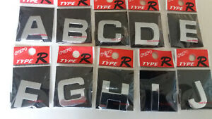 3D SELF ADHESIVE CAR CHROME LETTERS +  NUMBERS,  27mm tall,