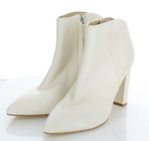 08-48 NEW $210 Women's Sz 8 M Marc Fisher Unno Leather Pointed Toe Bootie In Ivo