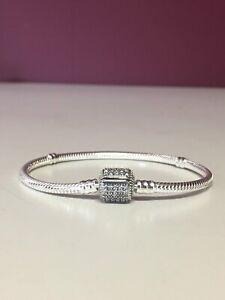 Sterling Silver Pandora  Bracelet 18cm