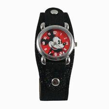 Disney Kids' Watch Mickey Mouse Girl Black Glitter Band Quartz analog watch Gift