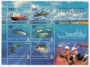 British Indian Ocean Terr. 2004 Fisheries Patrol min. sheet fine fresh MNH