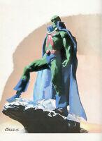DC Comics MARTIAN MANHUNTER Original Art BATMAN AQUAMAN SUPERMAN WONDER WOMAN