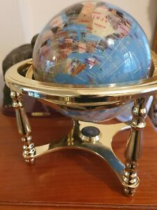 Lapis Gemstone Globe