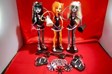 Monster High doll Fearleading Squad of 3 pack Toralei, Purrsephone, Meowlody,