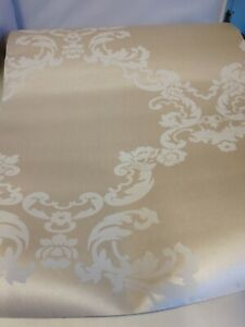 Laura Ashley Wall Paper Gold and White Scroll Vintage  x1 New