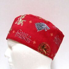 Game of Thrones Mens Scrub Hat, Surgical Cap, CRNA Scrub Hat, Skull Cap