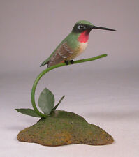 Ruby-throated Hummingbird Original Wood Carving/Birdhug
