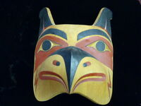 Lg Wonderful carved  Thunderbird mask  By Kelly Moses (Tulalip) in Red cedar