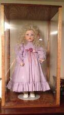 New listing solid oak 8 x 8 x 18 inch doll case display showcase 1 a