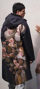 Giambattista Valli X H&M HM Mens Printed Parka Jacket Coat Size L Large New