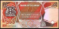 1987 Uganda 200 Shillings Banknote * UNC * P-32 *