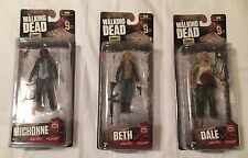 AMC The Walking Dead - Series 9 Figures - Beth, Dale and Michonne - New in Box!