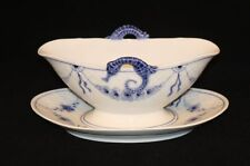 Bing & Grondahl B&G Denmark Empire Blue & White China Gravy Boat with Liner