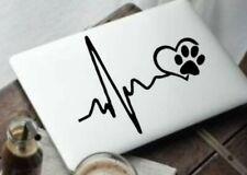 Ekg paw heart animal Decal, Yeti Decal, Tumbler Decal, LAPTOP STICKER TRUCK