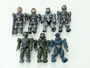 Toy Mini-Figs Lot MEGABLOKS HALO Bundle of 7 Mega Bloks Mini Figures
