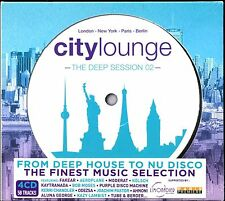 CITY LOUNGE - THE DEEP SESSION 02 - 4 CD COMPILATION NEUF ET SOUS CELLO