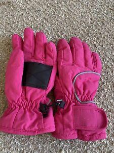 Kids Parallel Ski Gloves Medium Size Pink