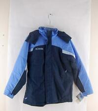 Columbia Girls Junior Fire Ridge Waterproof Ski Snowboard Jacket Blue 18/20 Hood
