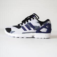 Adidas ZX Flux Para hombres Zapatos para correr Blancas/Collegiate Púrpura/Core Negro B34517