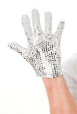 Michael Jackson Silver Sequin Glove Fancy Dress Dance Accessory Unisex