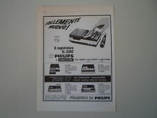 advertising Pubblicità 1967 REGISTRATORE PHILIPS EL 3302