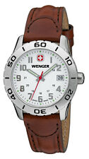 NEW WENGER SWISS ARMY Women's Grenadier White Dial Brown Leather Watch 0721.201