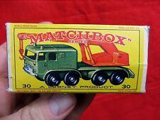 1960's LESNEY MATCHBOX  NO. 30 8 WHEEL CRANE  WITH ORIGINAL BOX