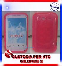 Custodia+Pellicola CERCHI ROSA per HTC WILDFIRE S G13