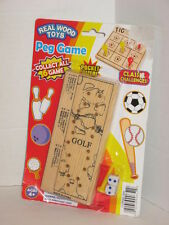 Real Wood Toys Golf Dice and Peg Game Puzzle Pocket Sized Ages 4+ NIP