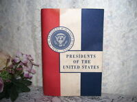 PRESIDENTS OF THE UNITED STATES JOHN HANCOCK MUTUAL LIFE INSURANCE 1965 BOOK