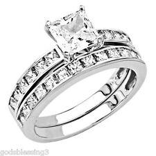 2.25CTW LCS DIAMOND BRIDAL ENGAGEMENT RING SET SZ 4 SZ 5 SZ 6 SZ 7 SZ 8 SZ 9