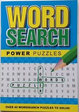 Word Search / wordsearch Power Puzzle Book - blue cover