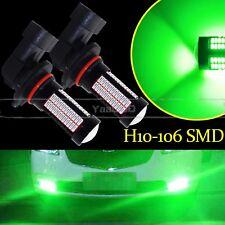 Super Green H10 9145 Auto LED Bulbs For Car Truck Fog Lights Lamp 106SMD 2x