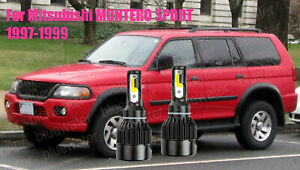 LED MONTERO SPORT 1997-1999 Headlight Kit H4/9003 White CREE Bulbs HI/Low Beam