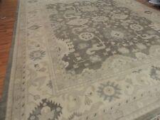 Oushak Oushag Gray Beige Rug India  Oriental Rug 14x16 Wool Oversize