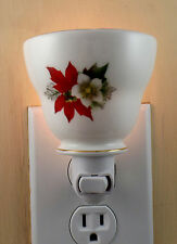 Duchess POINSETTIA Pattern Custom Made Tea Cup Night Light  NO HANDLE