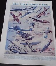 Vintage Print What Type Of Aircraft Is That Spitfire Bomber Avro Anson