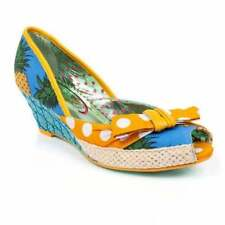 Peep Toes Spotted Textile Heels for Women
