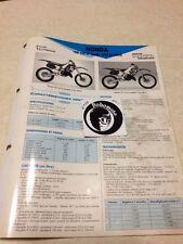Honda CR125R JE01 92 93 CR125 R CR 125 Fiche technique moto RMT ETAI