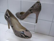 size UK8 41 Ladies HOBBS snake print leather pippa court shoes stilettos heels
